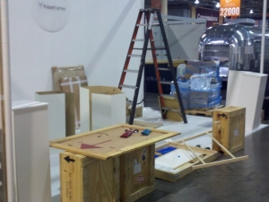 Vision Expo West Set Up friezeframes